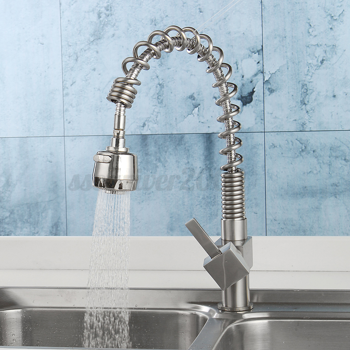 Kitchen Faucet Swivel Spout Pull Down Sprayer Bathroom Sink Mixer ...