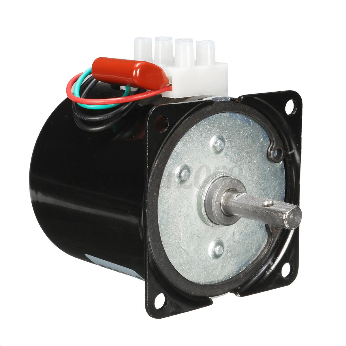 Ac 220v High Torque 60rpm Gear Box Electric Synchronous
