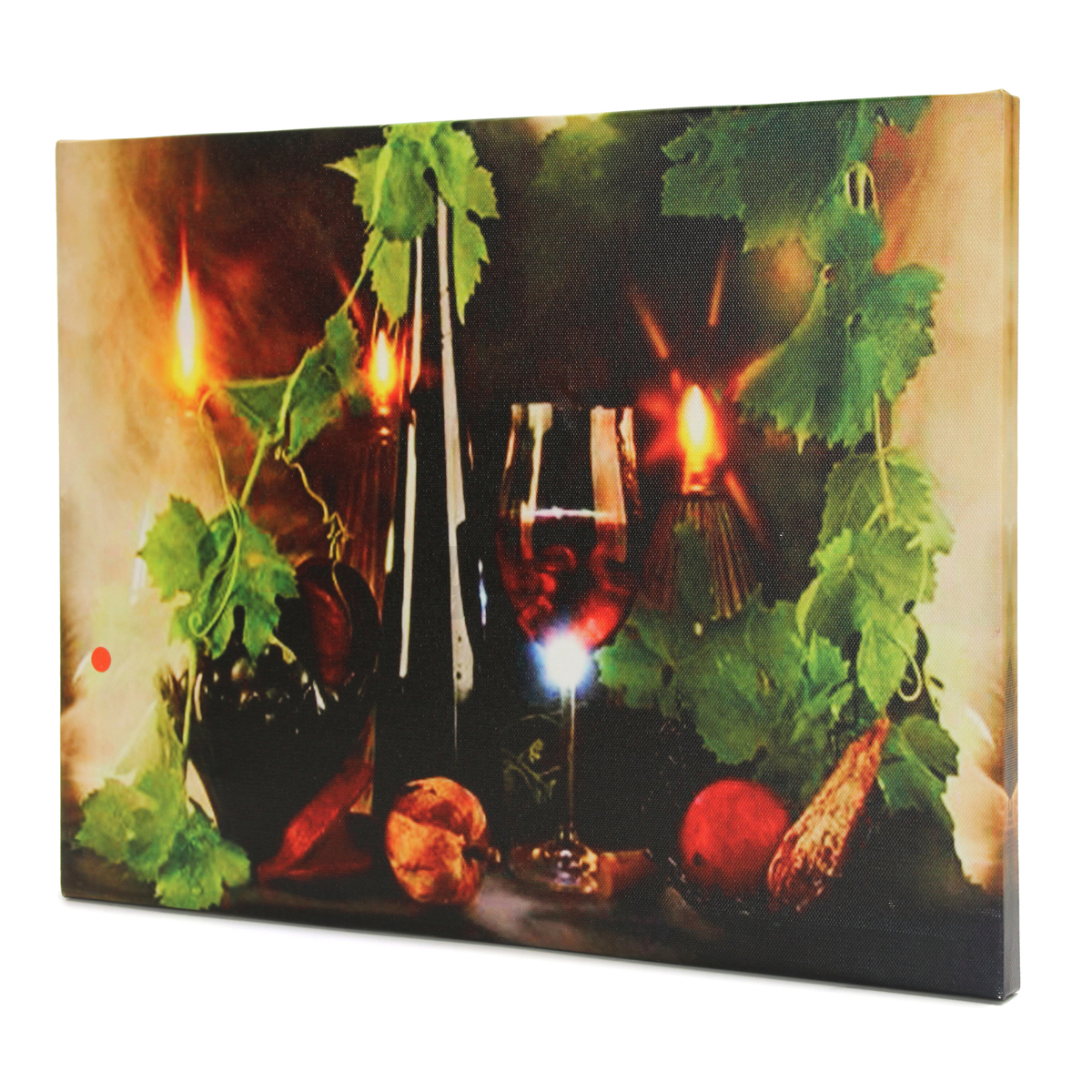 led light up wine flickering art painting canvas picture. Black Bedroom Furniture Sets. Home Design Ideas