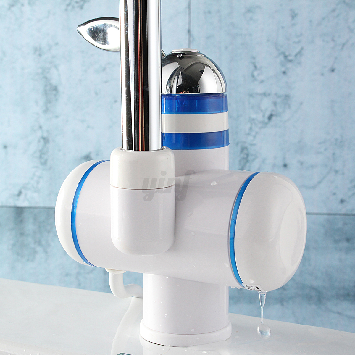 Tankless instant electric hot water heater faucet bathroom for 4 bathroom tankless water heater