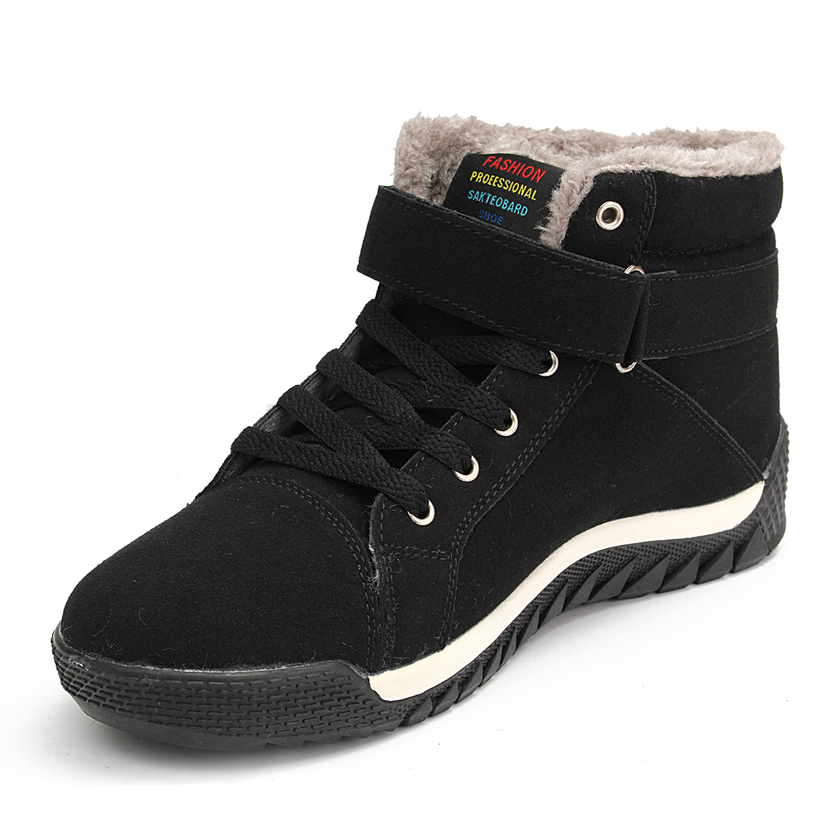 Winter-Men-039-s-Suede-Casual-Lace-Up-Fur-Lined-Warm-High-Top-Shoes-Snow-Ankle-Boots