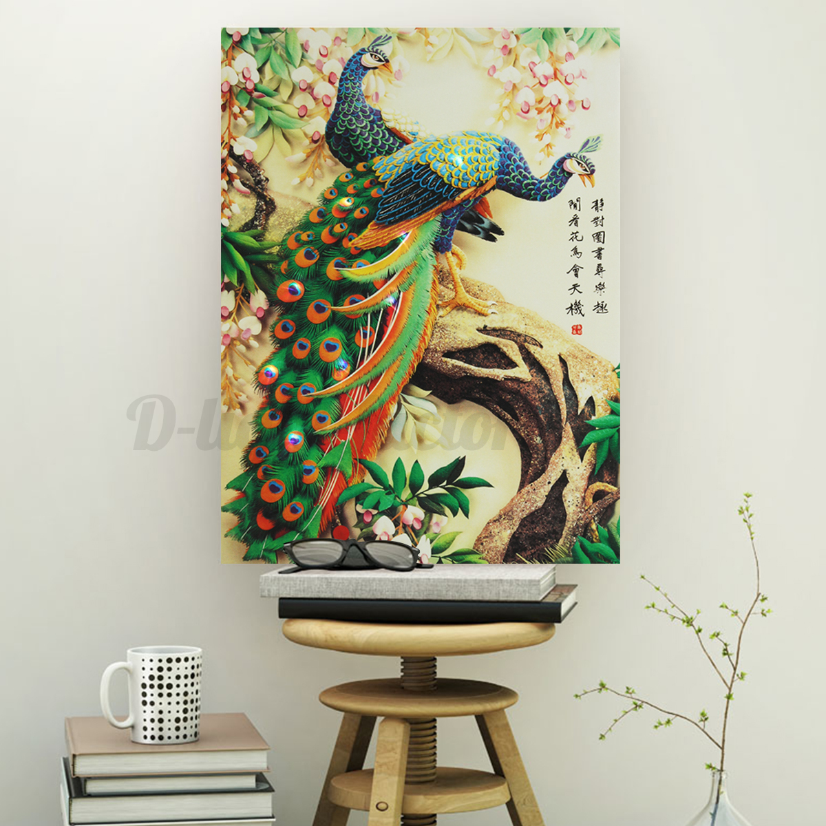 led light up christmas love swan canvas print picture wall hanging decor 30x40cm ebay. Black Bedroom Furniture Sets. Home Design Ideas