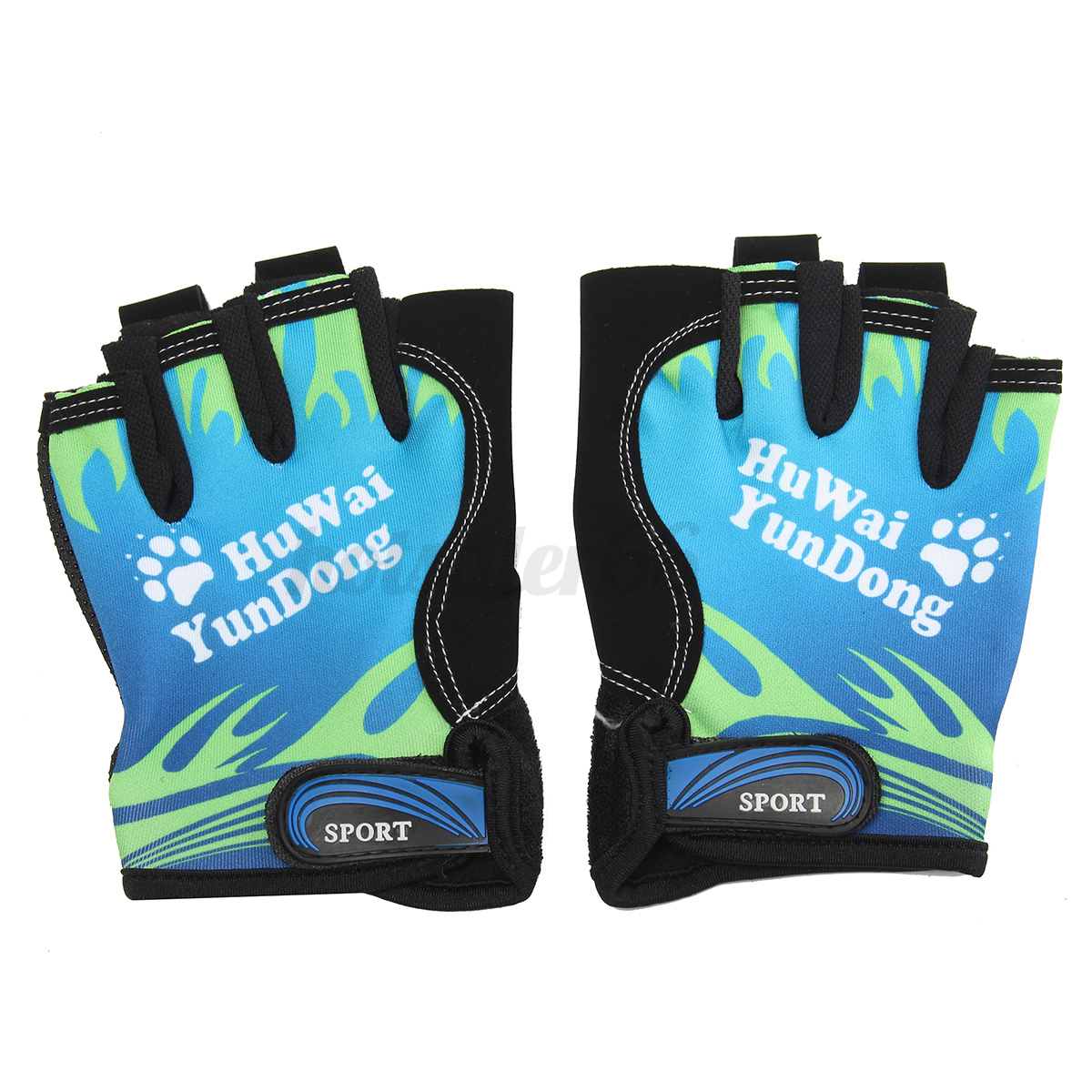 2-x-Half-Finger-Gloves-Fingerless-Mitts-For-Bike-Bicycle-Cycling-Outdoor-Sport