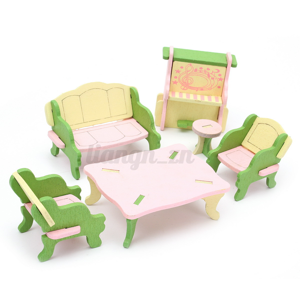 maison poup e meuble chaise chambre lit barbie en bois accessoires diy dollhouse ebay. Black Bedroom Furniture Sets. Home Design Ideas