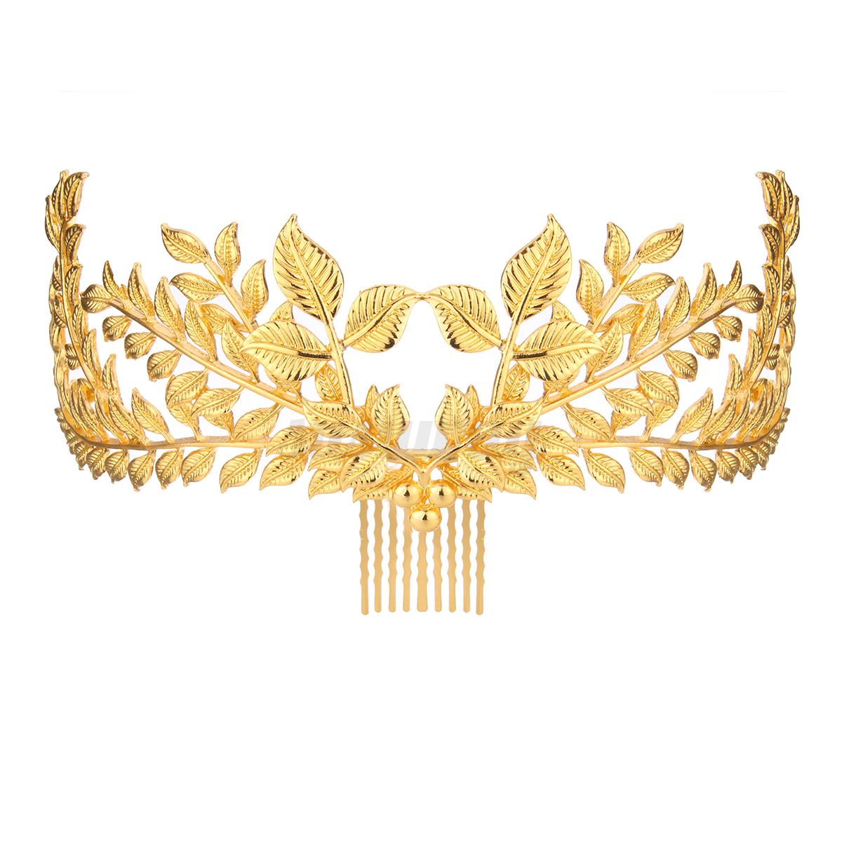 Princess-Bridal-Wedding-Prom-Headband-Crystal-Rhinestone-Pearl-Veil-Tiara-Crown thumbnail 29