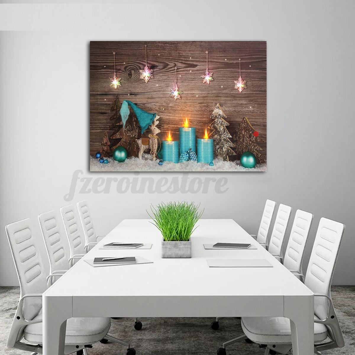 led bild mit beleuchtung leuchtbild kerzen leinwandbild. Black Bedroom Furniture Sets. Home Design Ideas