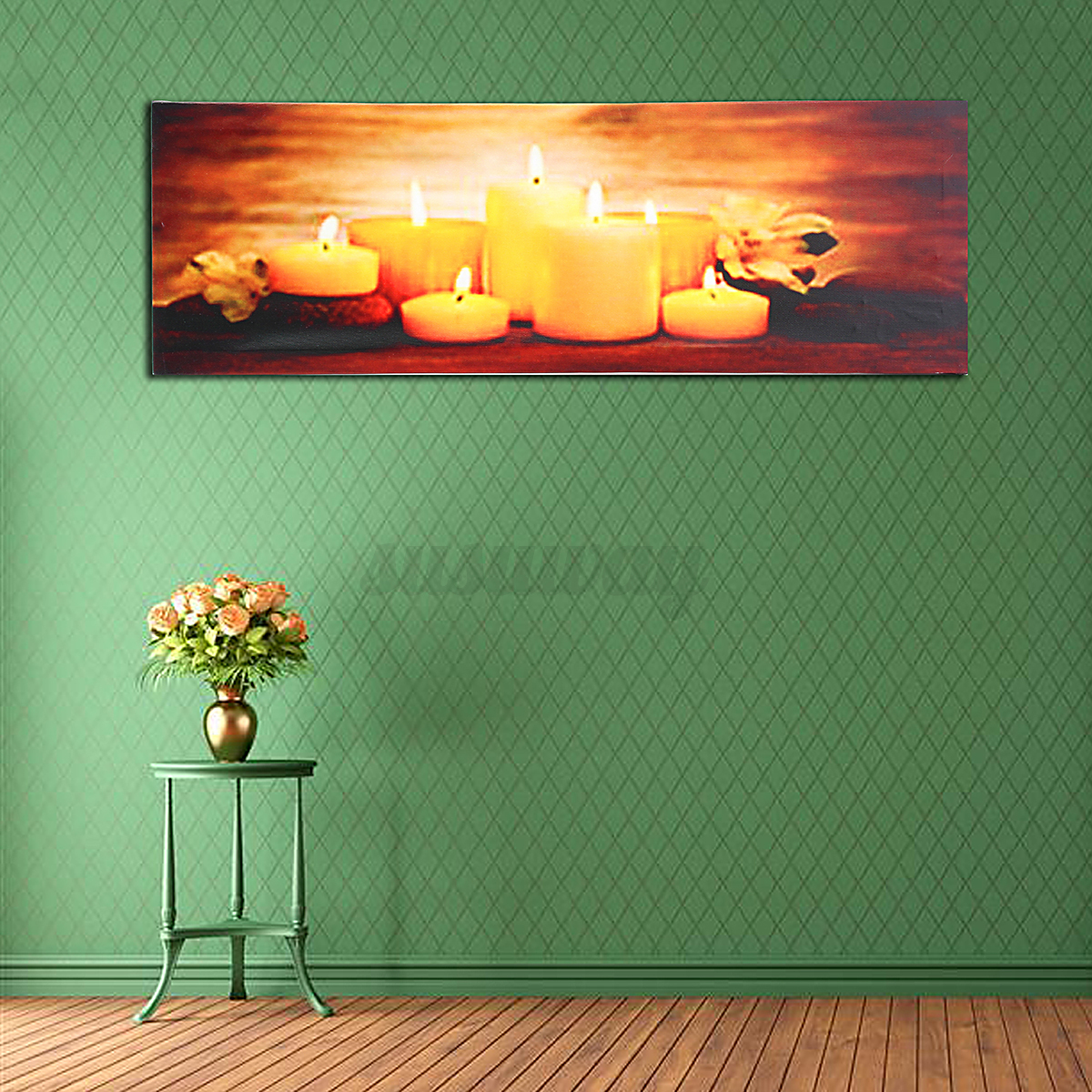 christmas led light up luminous framed canvas painting