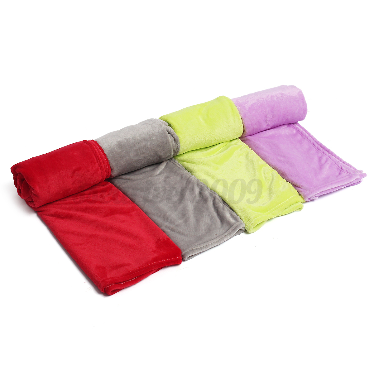 Soft Warm Solid Warm Micro Plush Flannel Fleece Blanket