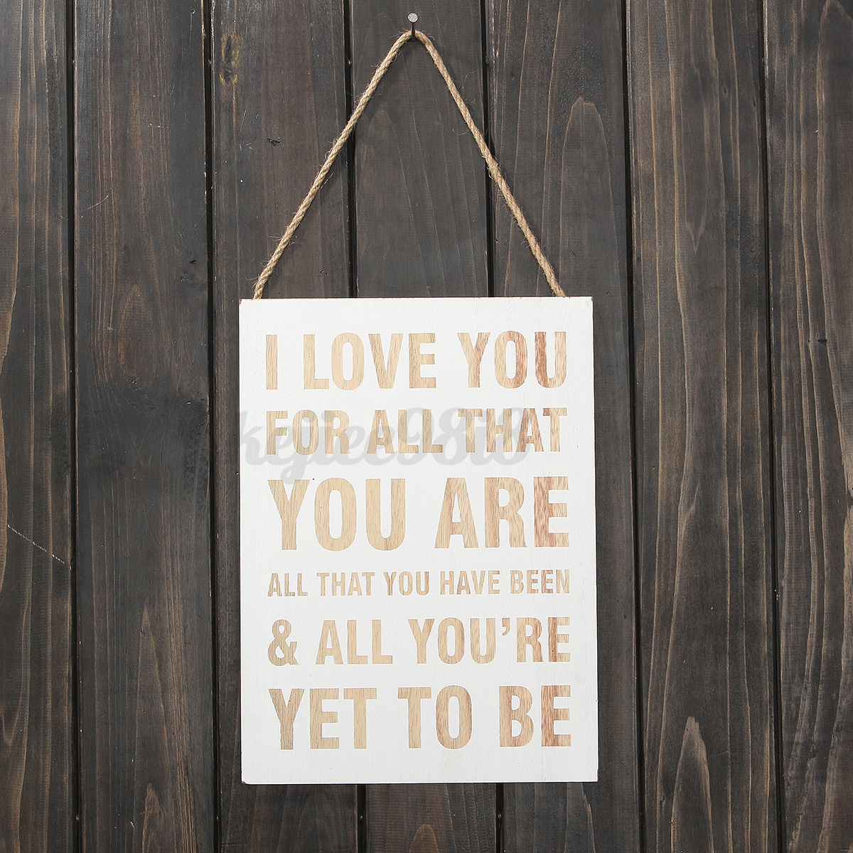 Shabby wood plaque board hanging sign vintage shop home - Wooden door signs for home ...