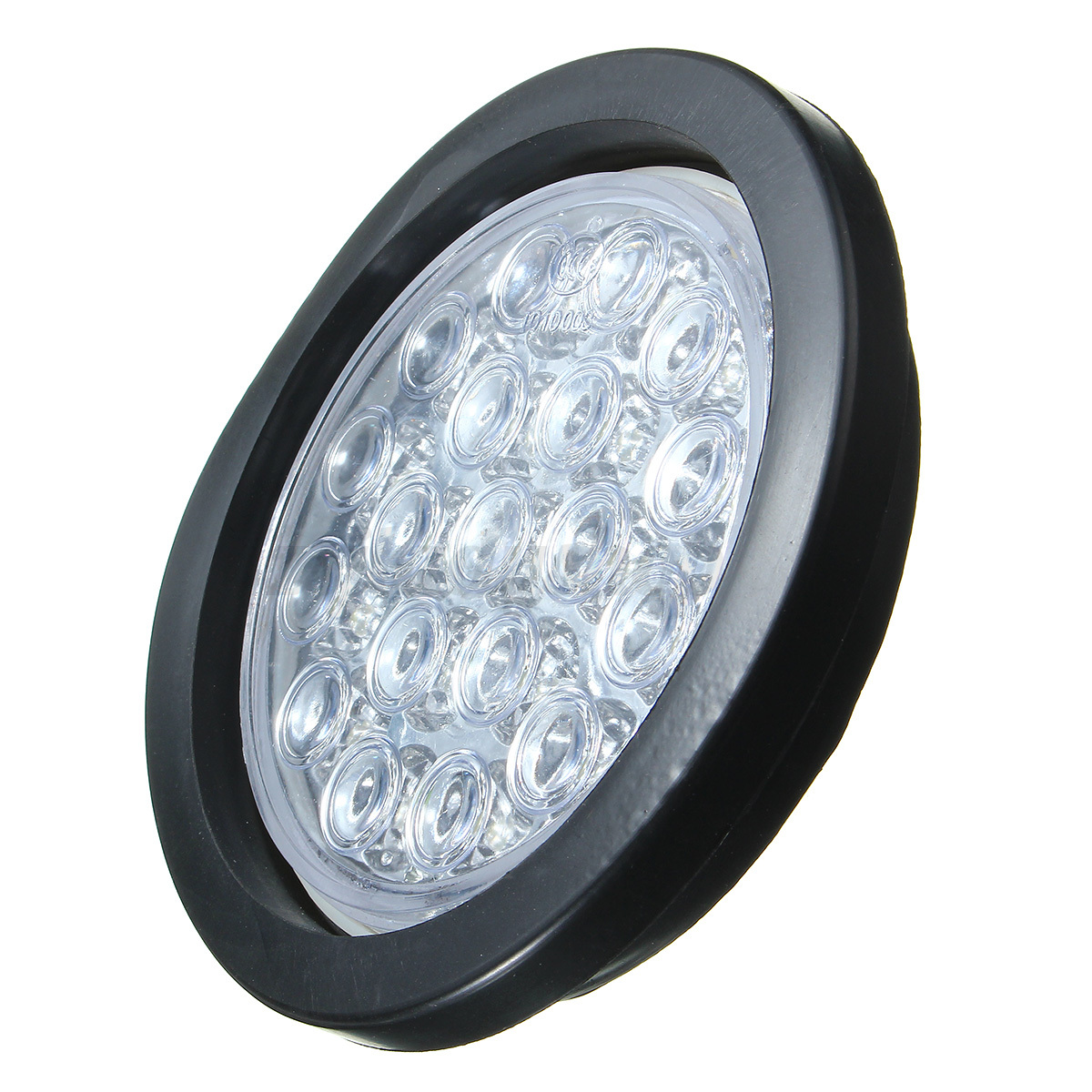 Details about 2x White 19 LED Truck Trailer Round Reflector Turn Brake ...