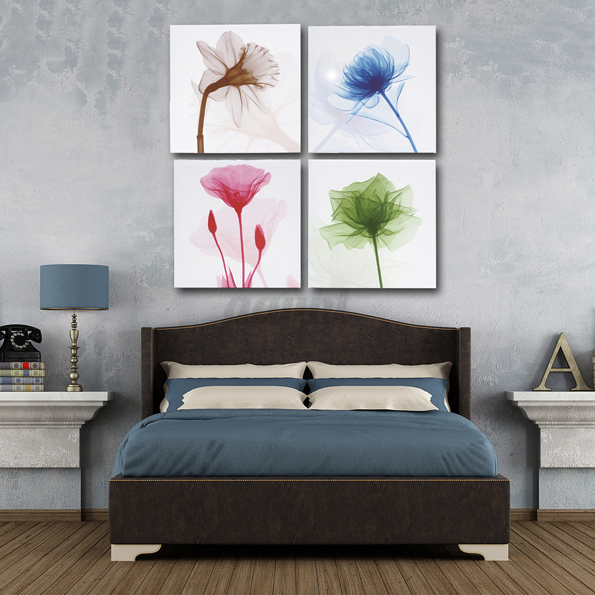 Framed-Flower-Tree-Abstract-Picture-Canvas-Print-Painting-Home-Wall-Art-Decor