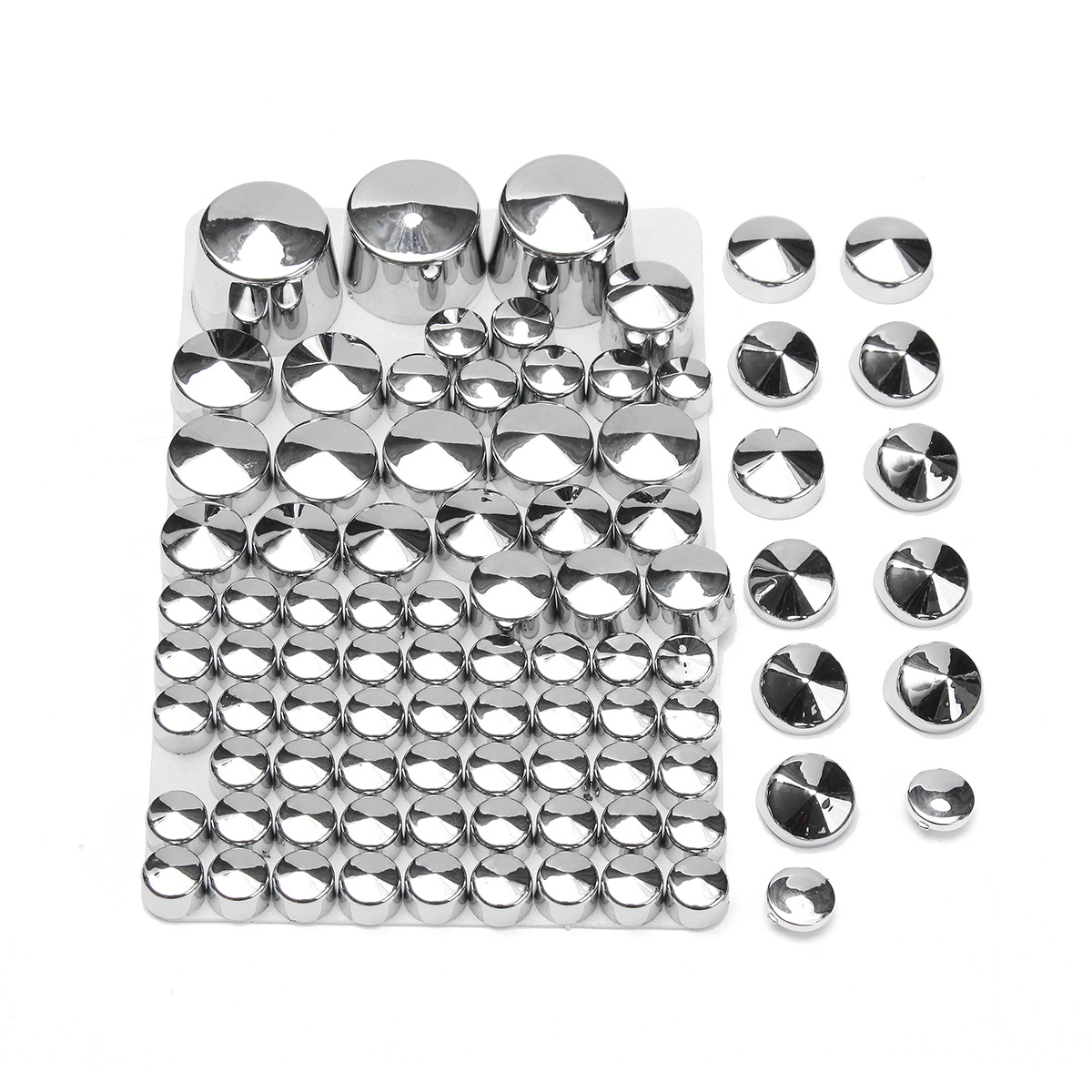 87pcs Chrome Motor Bolt Cover Accessories For Softail Twin Cam 1984-2006