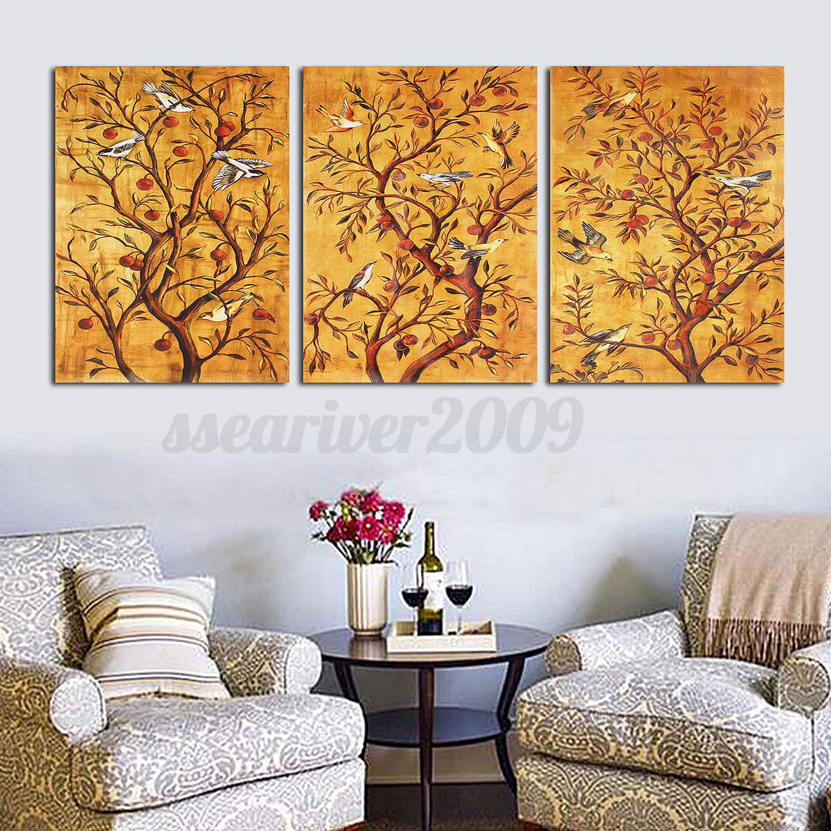 Large 3 Panels Modern Abstract Canvas Art Oil Painting