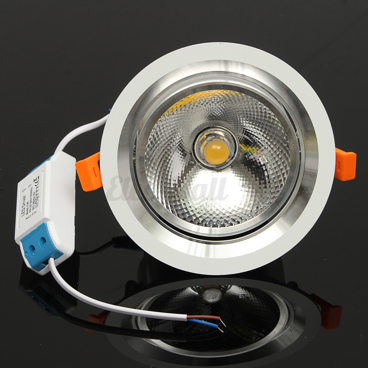 Ceiling Adjustable Lamp: Adjustable LED Recessed Ceiling Panel Light Lamp Cup Mount