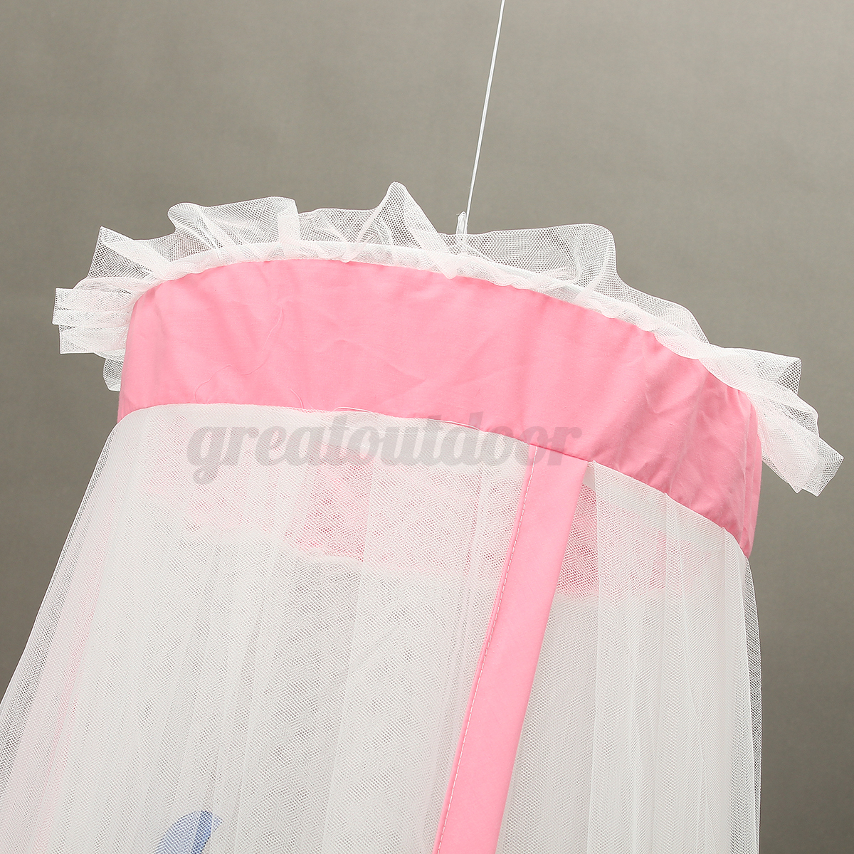Mosquito-Net-Baby-Bed-Curtain-Dome-Cot-Netting-Canopy-Drape-Stand-Crib-Holder