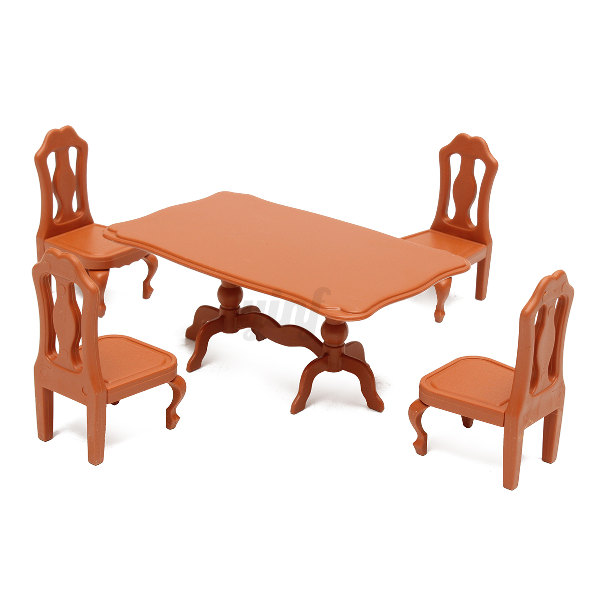 1 12 dining room table with 4 chairs set dolls house for C furniture new lynn