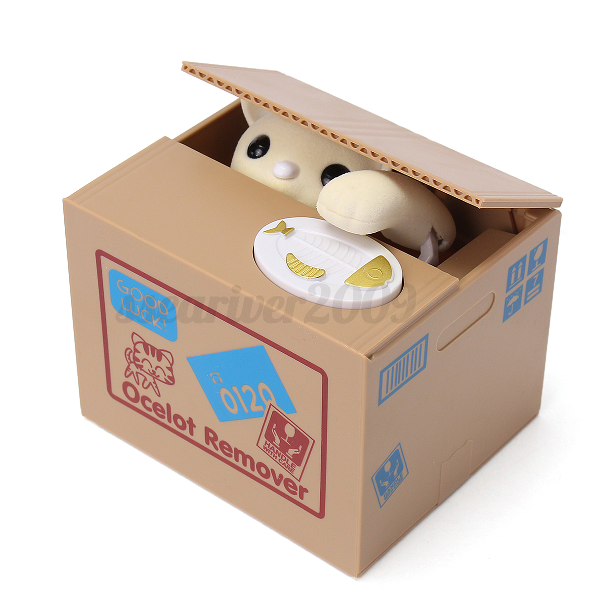 chat chien coin piggy bank tirelire pargner argent saving box pr enfant cadeau ebay. Black Bedroom Furniture Sets. Home Design Ideas