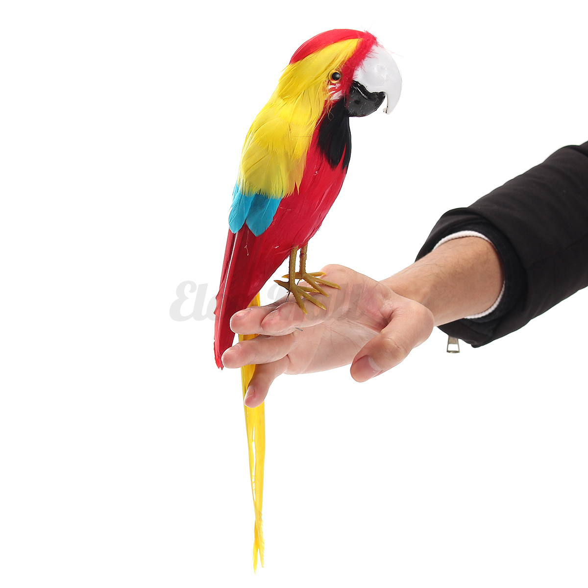 Handmade Fake Artificial Parrot Feather Bird Realistic Garden