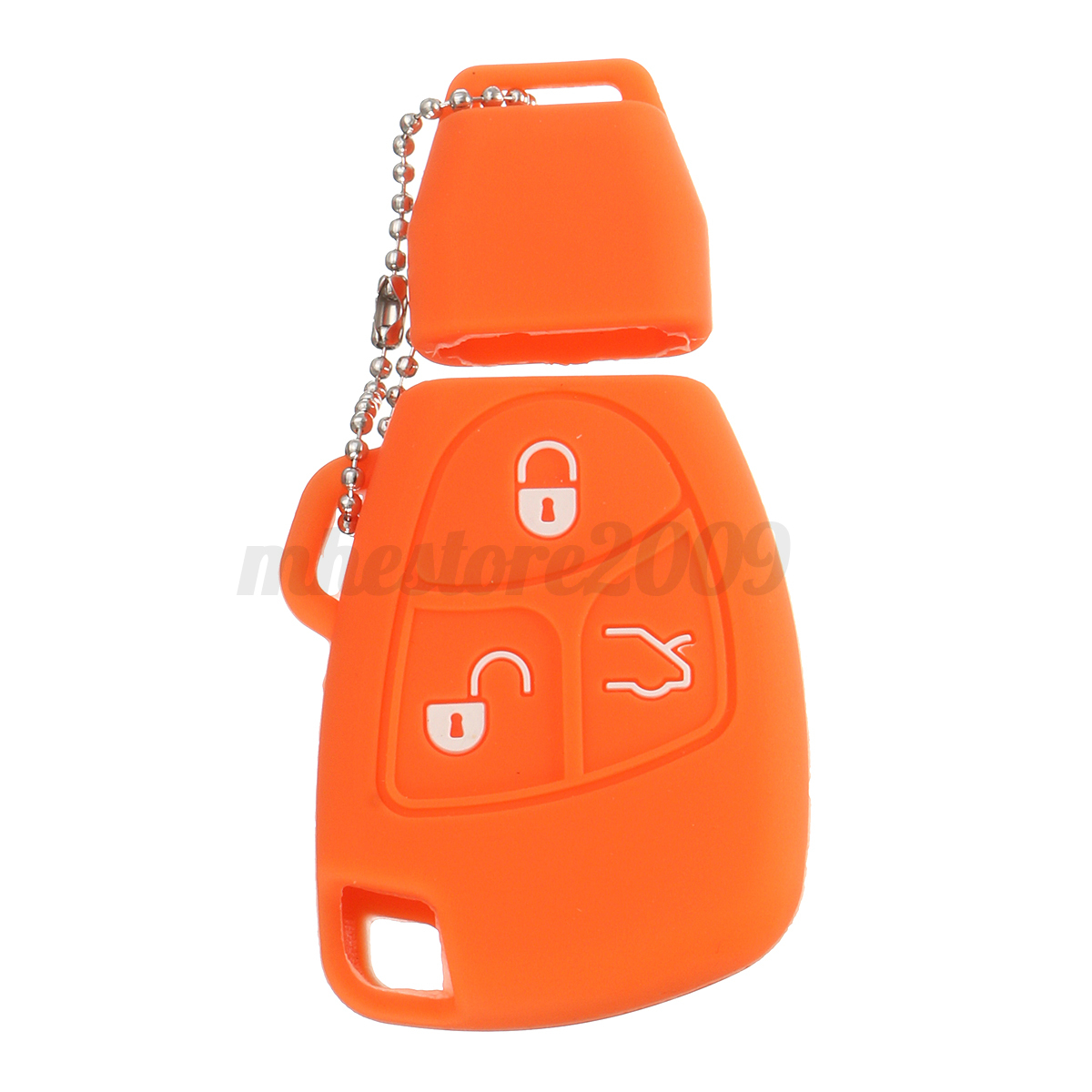 Silicone-3-Buttons-Remote-Key-Fob-Case-Shell-Cover-Holders-For-Mercedes-Benz miniature 13
