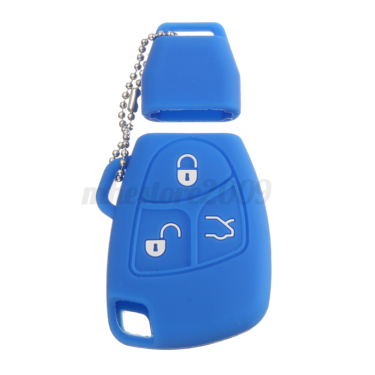 Silicone-3-Buttons-Remote-Key-Fob-Case-Shell-Cover-Holders-For-Mercedes-Benz miniature 14