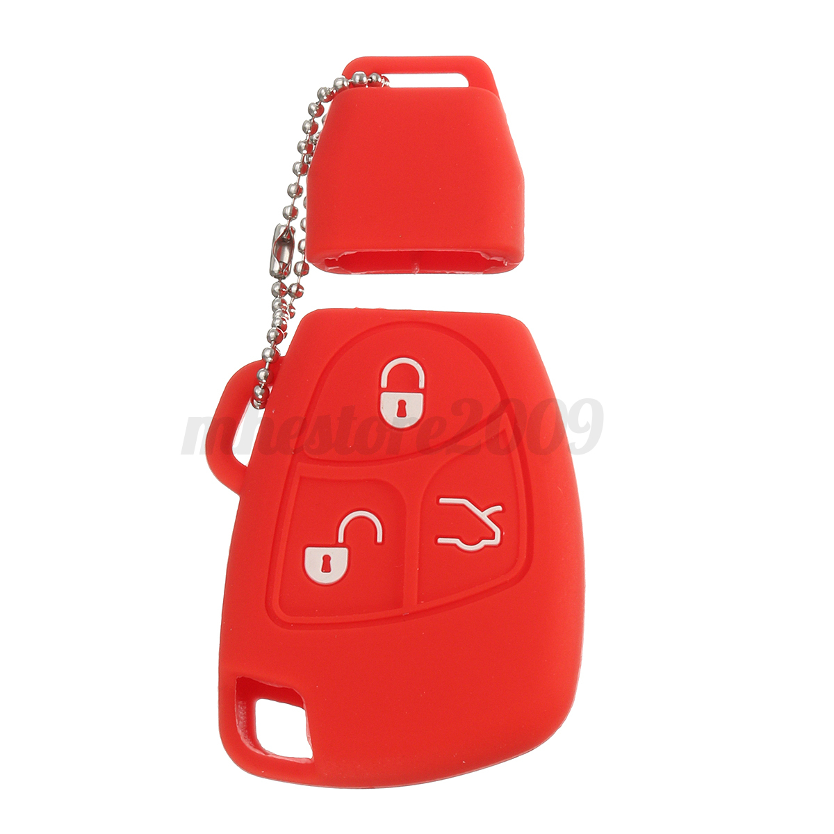 Silicone-3-Buttons-Remote-Key-Fob-Case-Shell-Cover-Holders-For-Mercedes-Benz miniature 15