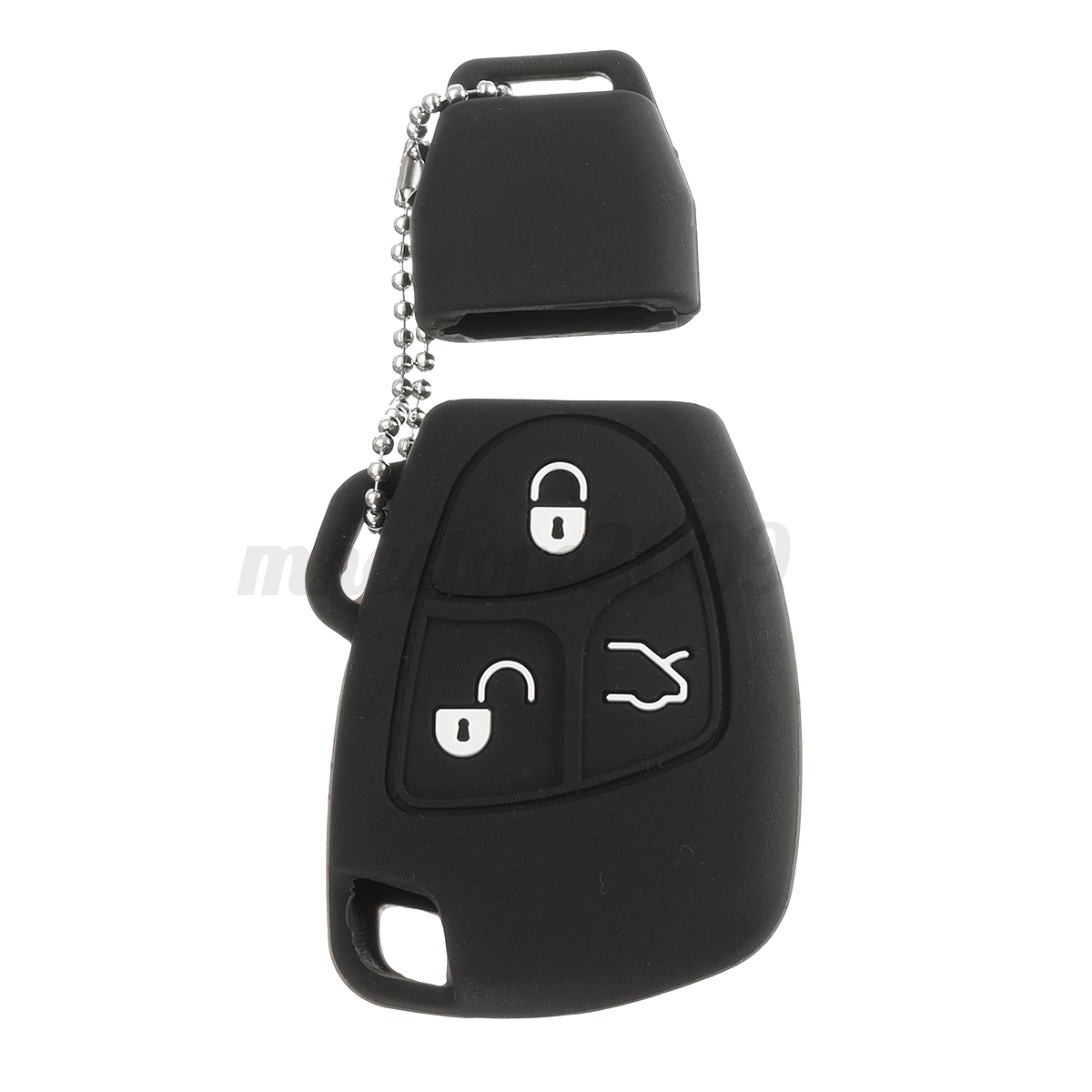 Silicone-3-Buttons-Remote-Key-Fob-Case-Shell-Cover-Holders-For-Mercedes-Benz miniature 16