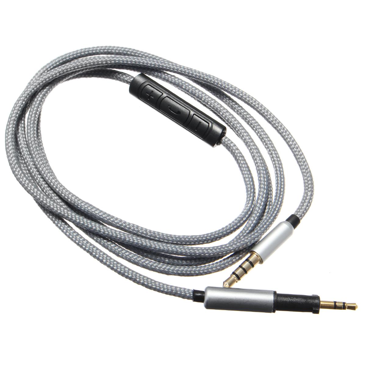1.2M Audiokabel Kopfhörerkabel Klinke 3,5mm auf 2.5mm mit Mikrofon ...