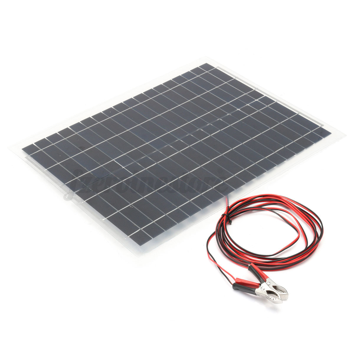 Rv Solar Battery Charger System : W v flexible solar panel kit m cable for battery